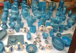 Beautiful blue pottery