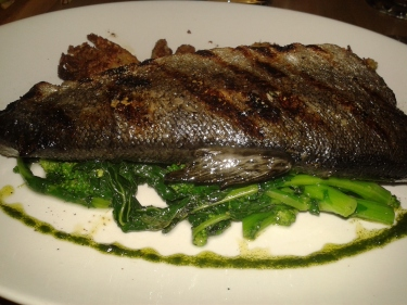Brushed Grilled Trout, Braised Fennel, Charred Broccoli Rabe