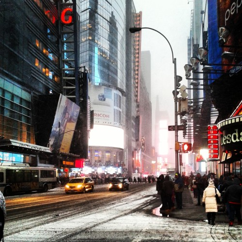 Cold snowy NYC