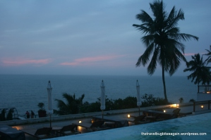 The infinite pool and sky, Leela Kovalam