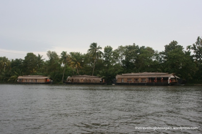 Houseboats, Alleypey backwaters