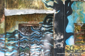 Graffiti on one of the local shops, Cochin(Kochi)