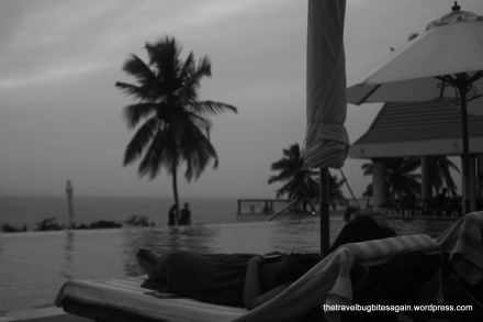 Overlooking the infinity pool, Leela Kovalam Beach