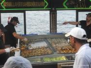 Fish sandwich at Galata Bridge