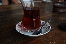 Turkish tea at Galata Bridge