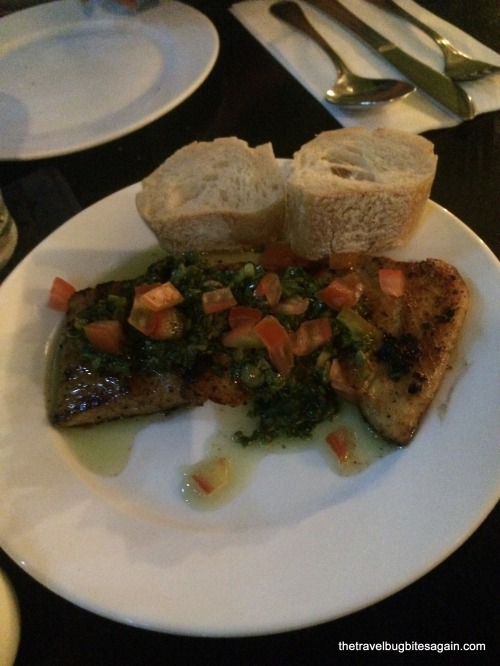 Fish with salsa verde