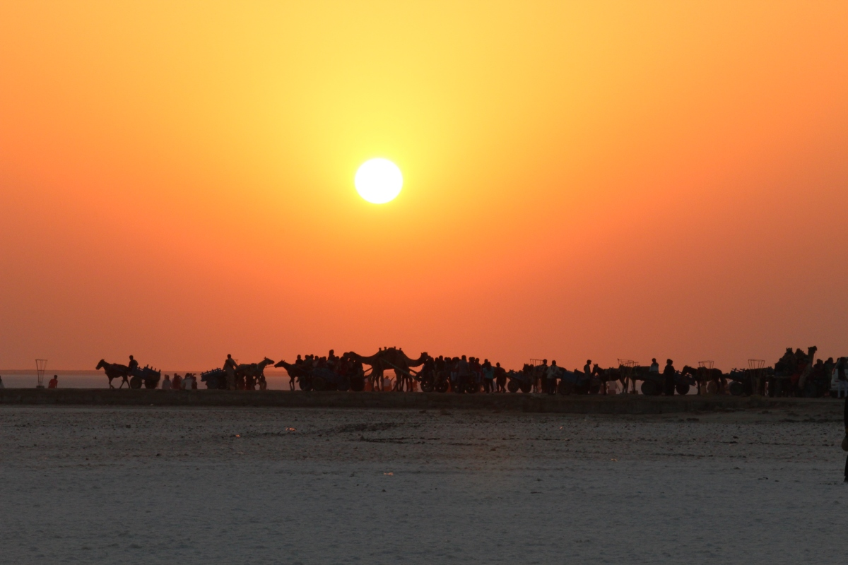Setting foot on the Great Rann of Kutch